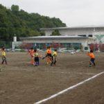 ボルテックスカップ少年サッカー大会試合の様子